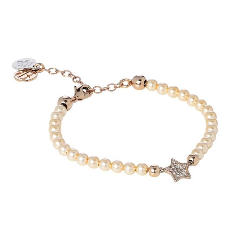 56cab4b27a8c09 Bracciale Boccadamo DLBR06 perle Swarovski e argento